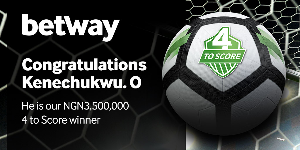 Soccer Enthusiast Wins NGN 3 5 Million In Betway's 4-To-Score